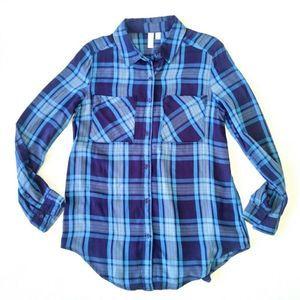 BP Plaid Tunic Shirt Button Down Blouse Nordstrom